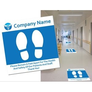 Non Slip Floor Graphics with Removable Adhesive