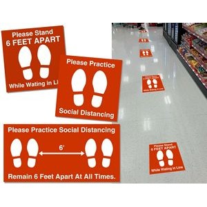 24x24 Non Slip Floor Graphics with Removable Adhesive