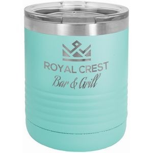 Polar Camel Ringneck 10 oz. Teal Vacuum Insulated Tumbler with Clear Lid